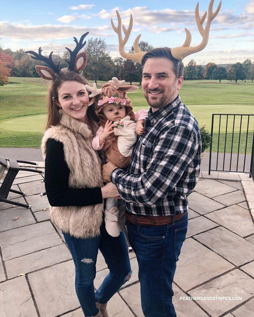 DIY Deer Family Halloween Costumes - Looking for cute, cheap, and easy Halloween costumes or unique last-minute, DIY Halloween costume ideas? Check out these 40 Creative Halloween Costume Ideas for women, moms, cute couples, small and large families, and best friends! You're sure to win the best Halloween costumes with these picks. #halloween #halloweencostumes #halloweencostumeideas #easycostumes