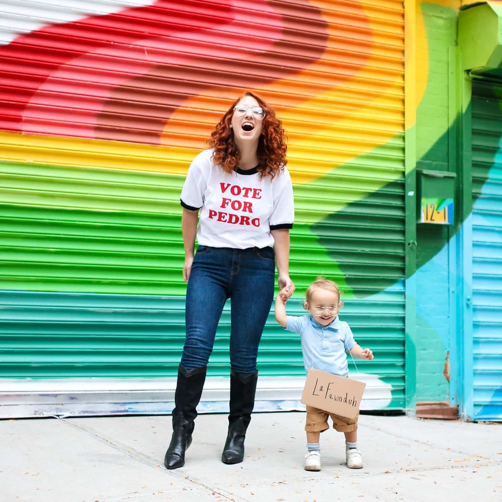 Napoleon Dynamite & Kip Halloween Costume - Looking for cute, cheap, and easy Halloween costumes or unique last-minute, DIY Halloween costume ideas? Check out these 40 Creative Halloween Costume Ideas for women, moms, cute couples, small and large families, and best friends! You're sure to win the best Halloween costumes with these picks. #halloween #halloweencostumes #halloweencostumeideas #easycostumes