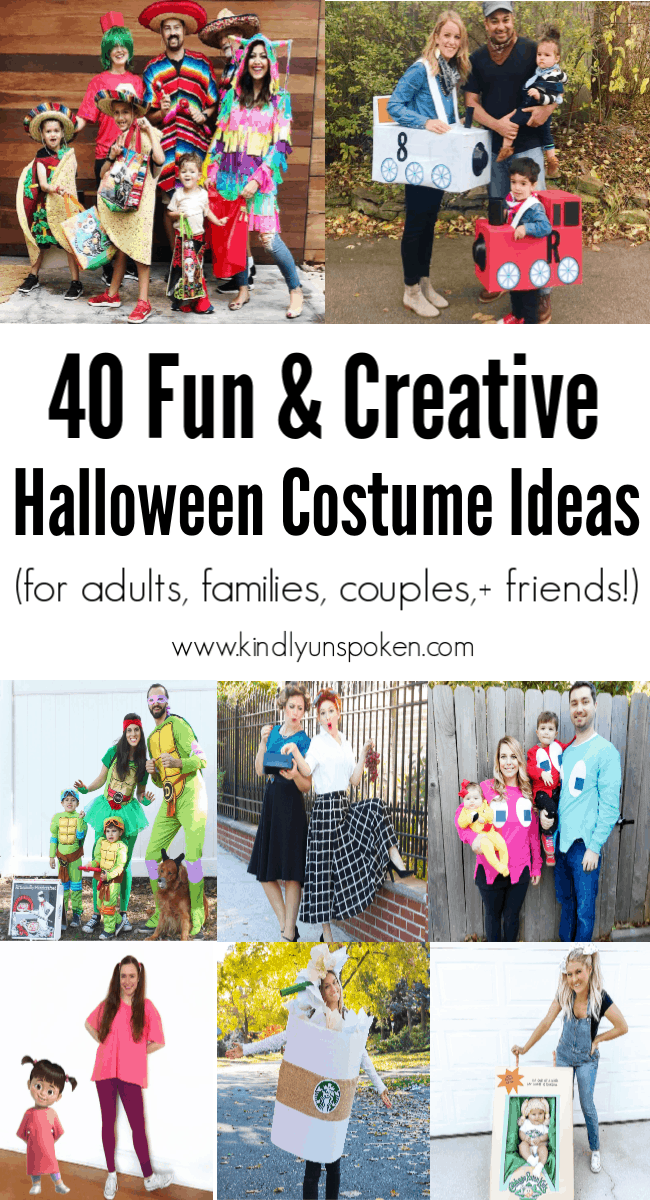 Check out these 40 cute and creative Halloween costume ideas for women, couples, families, and friends! #halloween #halloweencostumes #halloweencostumeideas