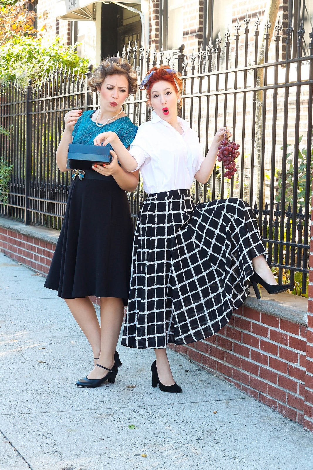 "Lucy & Ethel ""I Love Lucy"" Halloween Costume - Looking for cute, cheap, and easy Halloween costumes or unique last-minute, DIY Halloween costume ideas? Check out these 40 Creative Halloween Costume Ideas for women, moms, cute couples, small and large families, and best friends! You're sure to win the best Halloween costumes with these picks. #halloween #halloweencostumes #halloweencostumeideas #easycostumes"