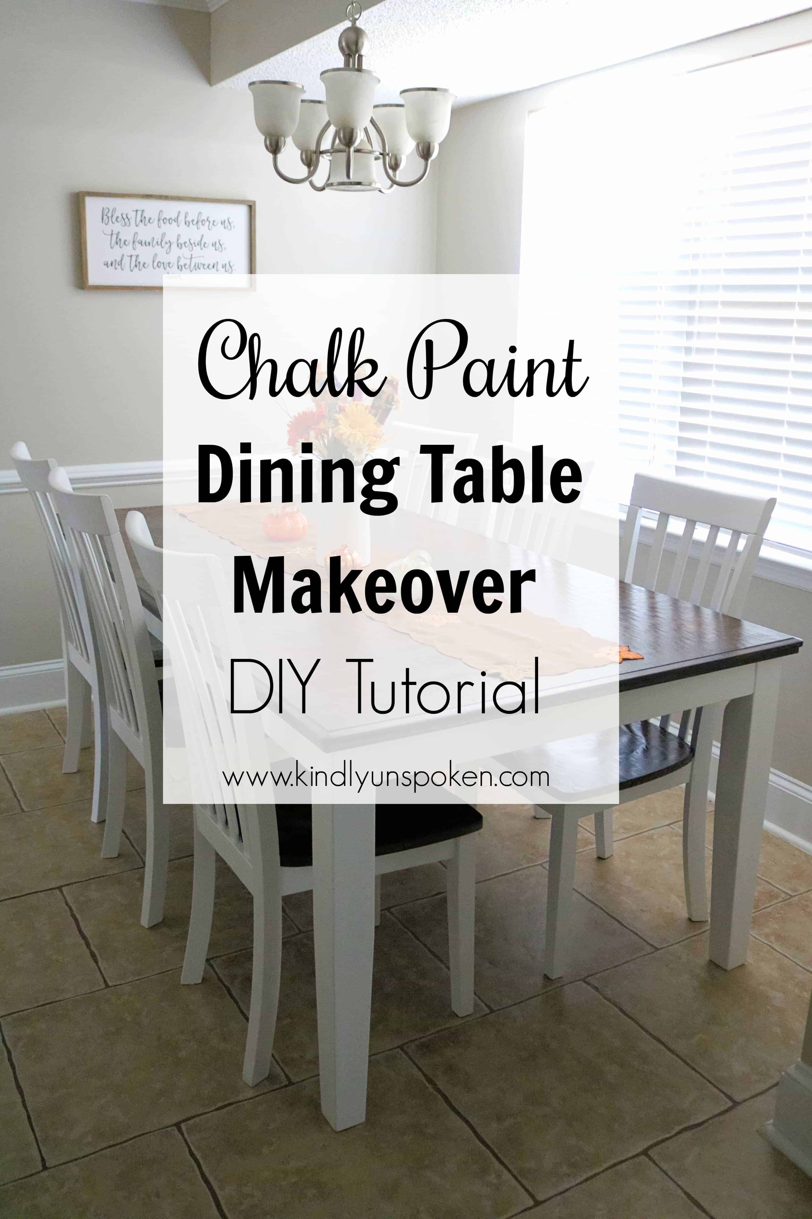 what kind of paint to use on dining room table | Chalk Paint Dining Table Makeover - Kindly Unspoken