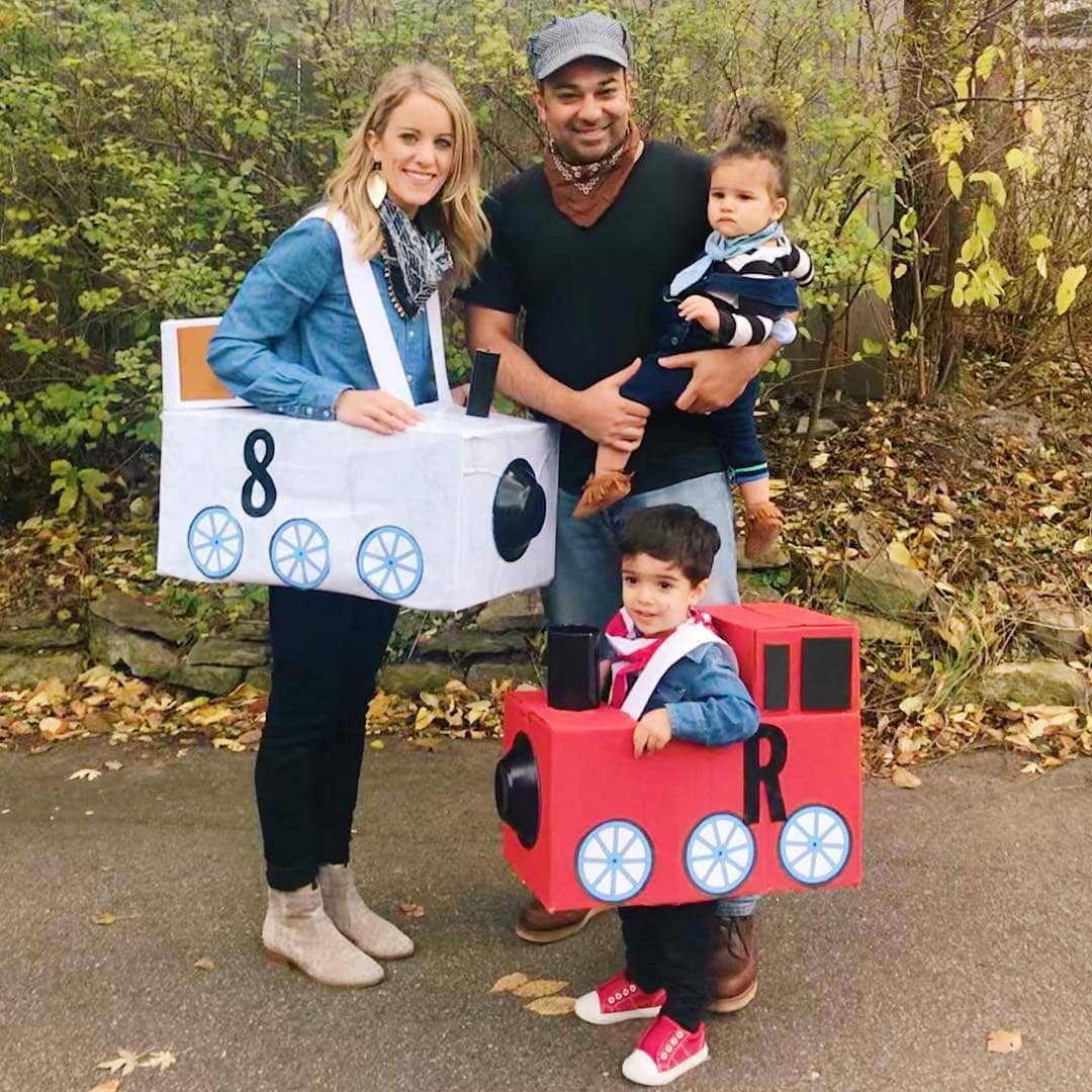 Trains & Conductor Family Halloween Costumes - Looking for cute, cheap, and easy Halloween costumes or unique last-minute, DIY Halloween costume ideas? Check out these 40 Creative Halloween Costume Ideas for women, moms, cute couples, small and large families, and best friends! You're sure to win the best Halloween costumes with these picks. #halloween #halloweencostumes #halloweencostumeideas #easycostumes