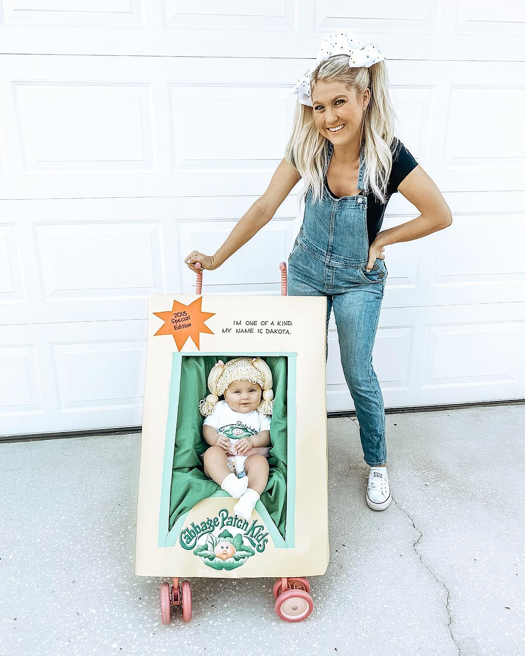 Cabbage Patch Doll Halloween Costume - Looking for cute, cheap, and easy Halloween costumes or unique last-minute, DIY Halloween costume ideas? Check out these 40 Creative Halloween Costume Ideas for women, moms, cute couples, small and large families, and best friends! You're sure to win the best Halloween costumes with these picks. #halloween #halloweencostumes #halloweencostumeideas #easycostumes