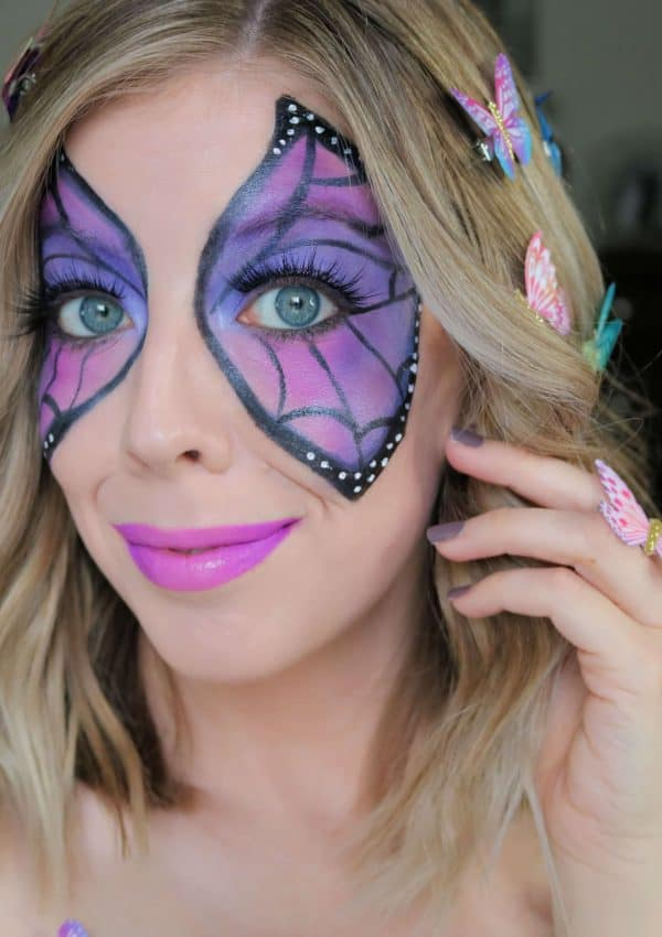 Colorful Butterfly Makeup Halloween Tutorial