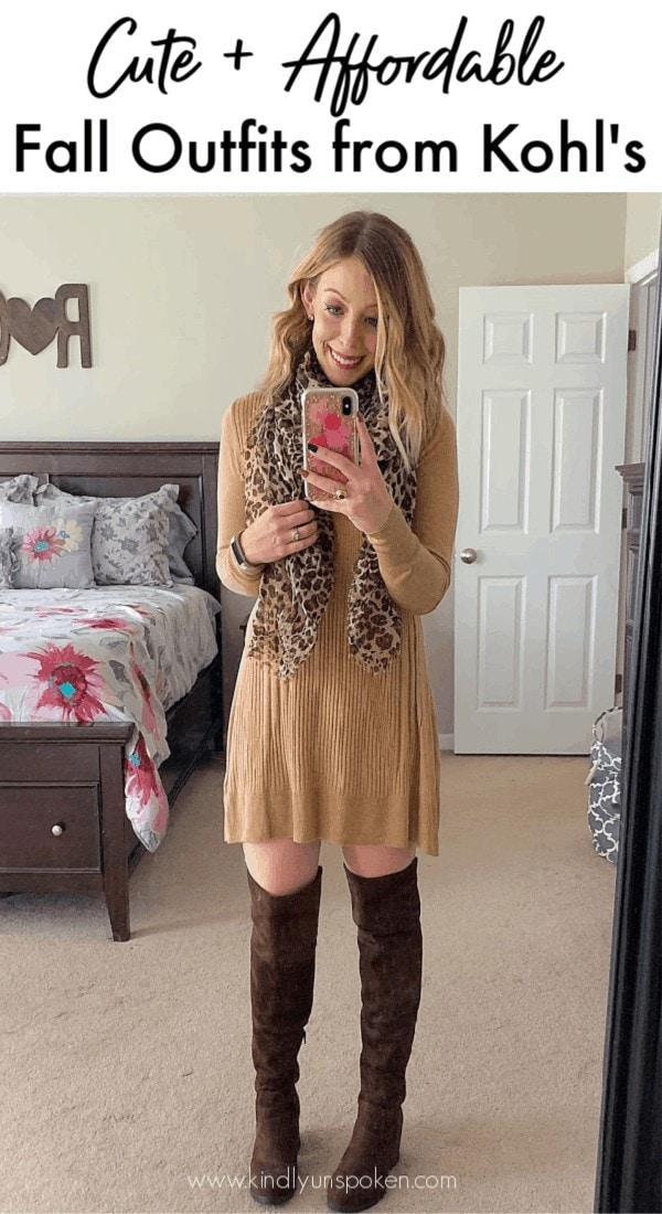 Needing some fall fashion outfit ideas? Check out these affordable cute fall outfits I scored at Kohl's! #fallfashion #falloutfits #outfits #kohls