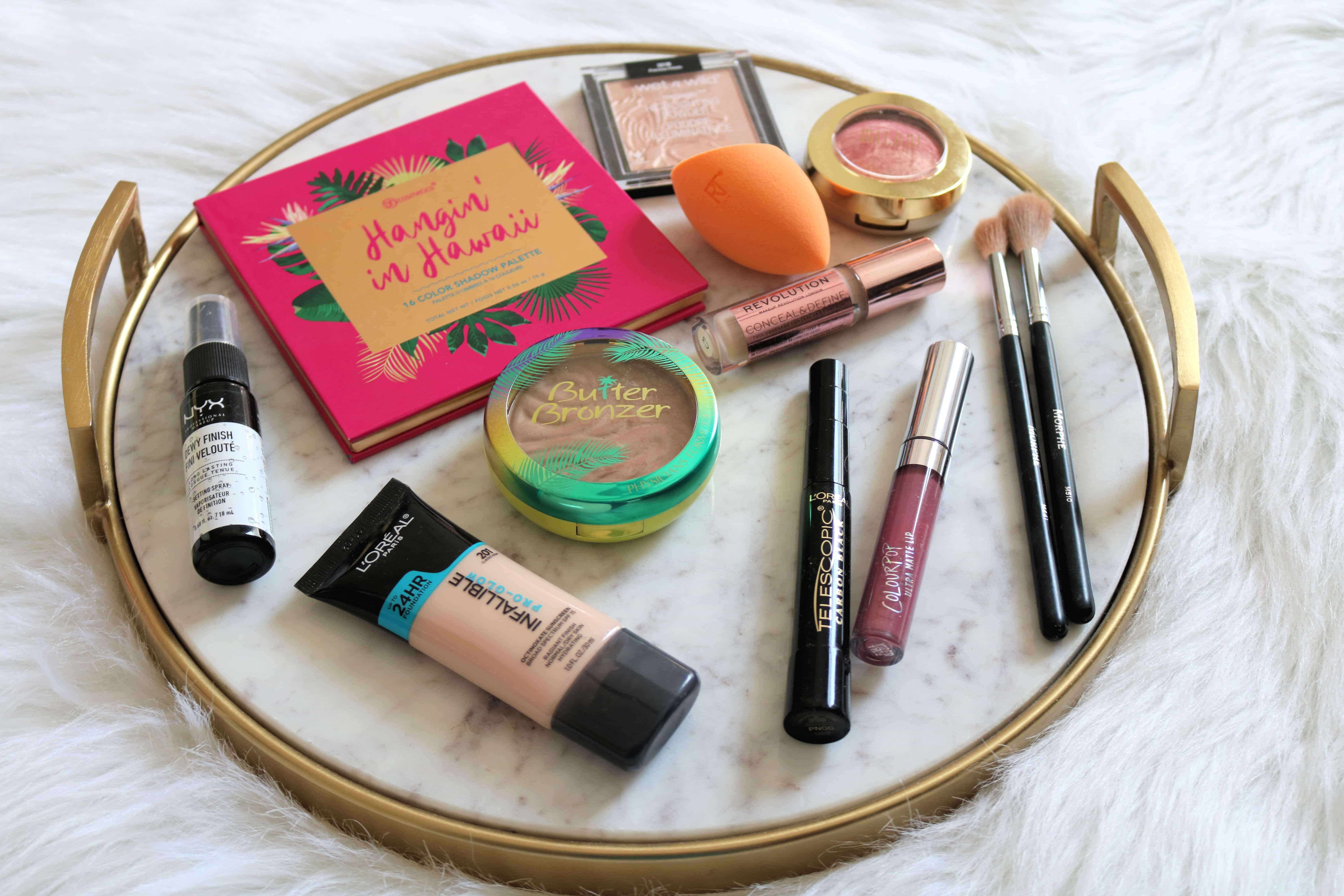 This drugstore makeup kit for beginners provides every makeup product that a makeup beginner needs in their collection. Even better it's all under $25! #drugstoremakeup #makeup