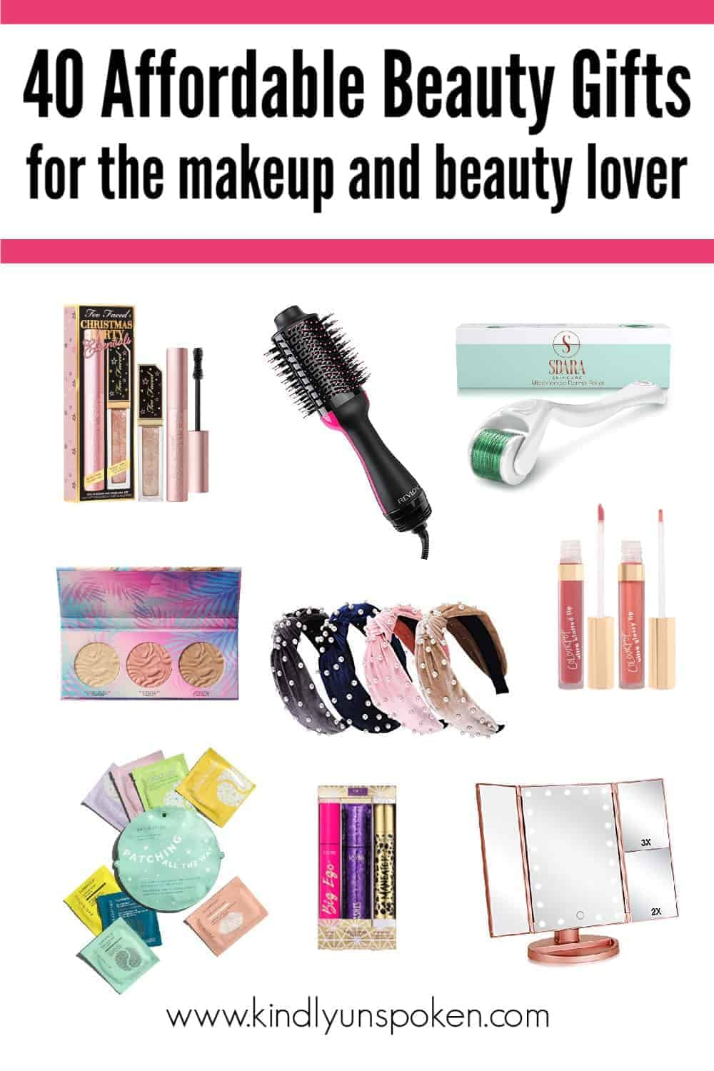 Looking for the best beauty gifts for her and stocking stuffer ideas this Christmas? Check out my beauty gift guide with 40 affordable beauty gift sets and makeup gift sets for gifting to makeup lovers. Everything is under $40! #giftguide #beautygifts #giftsforher #christmasgifts #makeupgifts