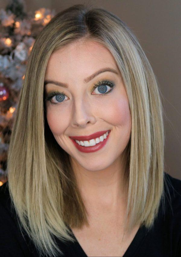 Green Eyeshadow Holiday Makeup Look
