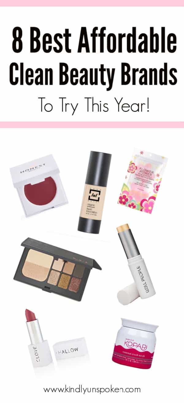 Looking to switch to cleaner beauty this year? Check out these 8 Affordable Clean Beauty Brands with some of the best natural skincare, organic makeup, and clean beauty products that are non-toxic, budget-friendly, and made with safe, good-for-you ingredients. #cleanbeauty #cleanmakeup #nontoxic