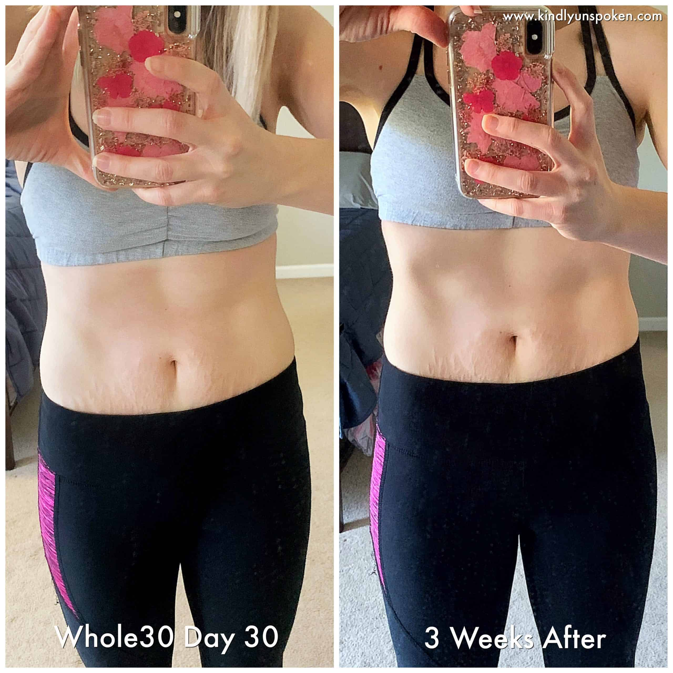 Check out my Whole30 results, success story, and before and after photos of my Whole30 transformation! #whole30 #health #cleaneating #weightloss