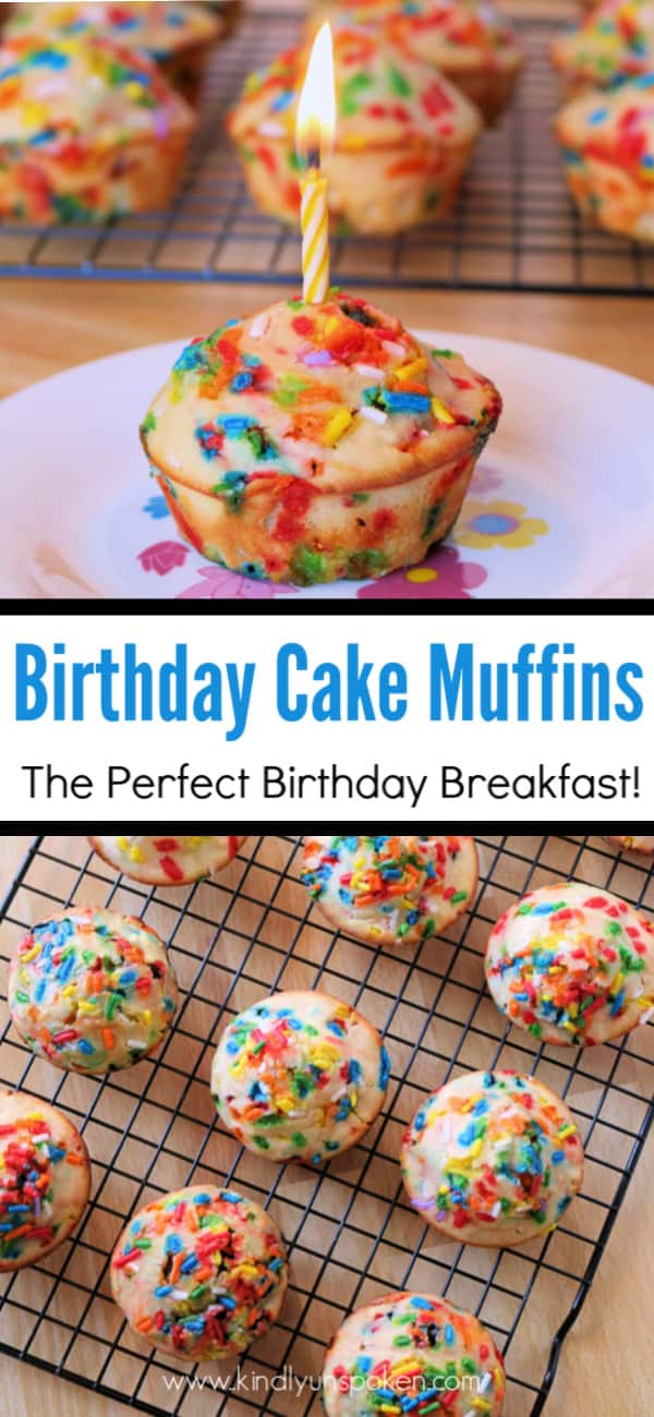 Awe Inspiring Delicious Sprinkle Birthday Cake Muffins So Easy Kindly Unspoken Funny Birthday Cards Online Eattedamsfinfo