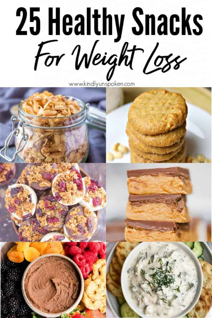 Check out these 25 Delicious and Easy Healthy Snack Recipes for clean eating and weight loss. This list is full of simple-ingredient, healthy snacks like no bake bars, cookies, chips, healthy dips, granola, veggies, smoothie bowls, and more! #snacks #healthysnacks #cleaneating #weightloss #healthsnackideas #healthyrecipes