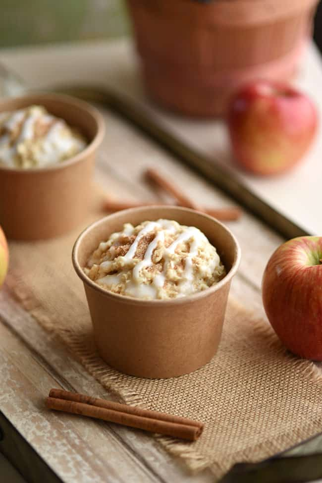 Healthy Cinnamon Apple Muffins - Check out these 25 Delicious and Easy Healthy Snack Recipes for clean eating and weight loss. This list is full of simple-ingredient, healthy snacks like no bake bars, cookies, chips, healthy dips, granola, veggies, smoothie bowls, and more! #snacks #healthysnacks #cleaneating #weightloss #healthsnackideas #healthyrecipes
