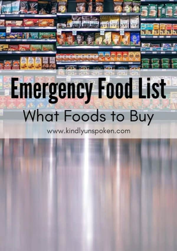 Emergency Food List – What to Buy