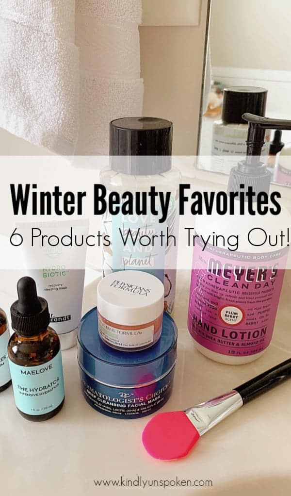 Check out my roundup of 6 Winter Beauty Favorites including affordable skincare, haircare, and beauty products I've been loving lately!