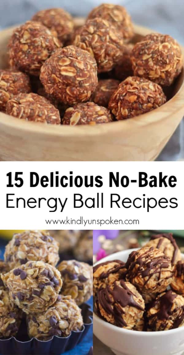 Check out these 15 Healthy and Delicious No Bake Energy Balls with yummy flavors like chocolate chip, peanut butter, lemon coconut, brownie bites, and more! These no bake energy bites are an easy on-the-go snack, gluten-free, and made with healthy, protein-filled ingredients like oats, dates, peanut butter, banana, and chia seeds. They're perfect for clean-eating, paleo, vegan, and keto diets. #energyballs #energyballrecipes #energybites #nobake #healthysnacks