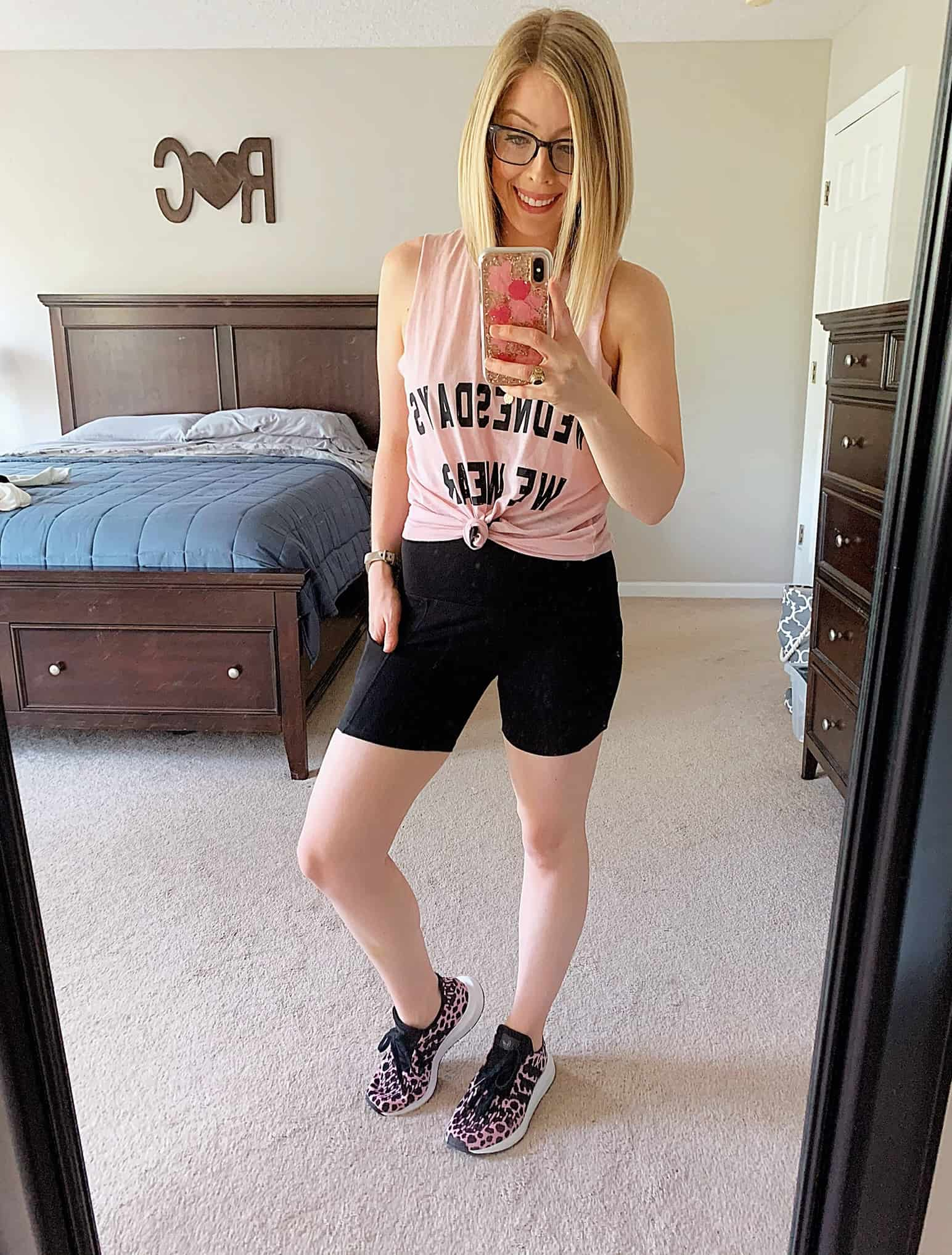 Sharing my April Amazon Favorites with 5 Affordable + Comfy Outfits to wear at home for lounging or working out. #amazonhaul #amazonfashion #springfashion #affordablefashion
