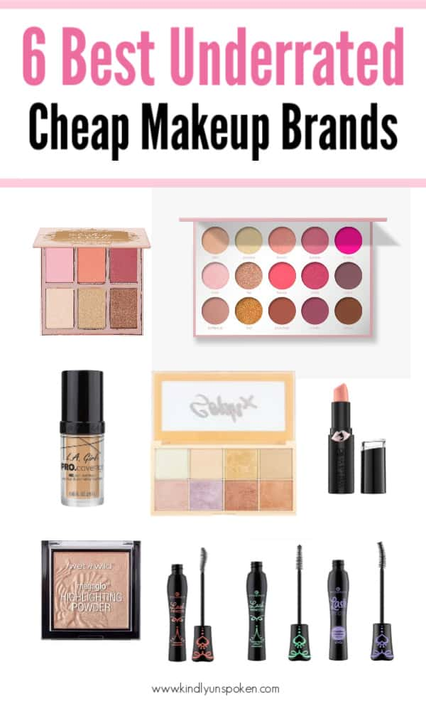 On the hunt for the best budget-friendly makeup brands? Check out my roundup of the 6 Best Cheap Makeup Brands to try with good quality makeup products you can shop online or at the drugstore! #cheapmakeup #cheapmakeupbrands #drugstoremakeup #affordablemakeup