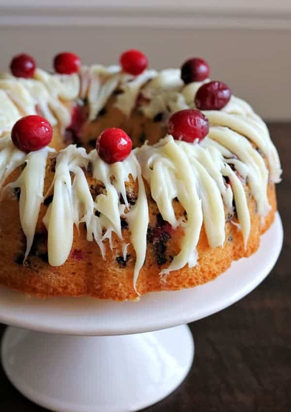 Double Chocolate Cranberry Bundt Cake