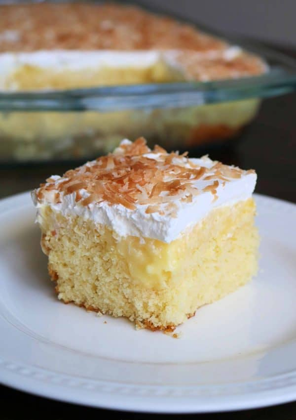 Easy Hawaiian Pineapple Coconut Poke Cake