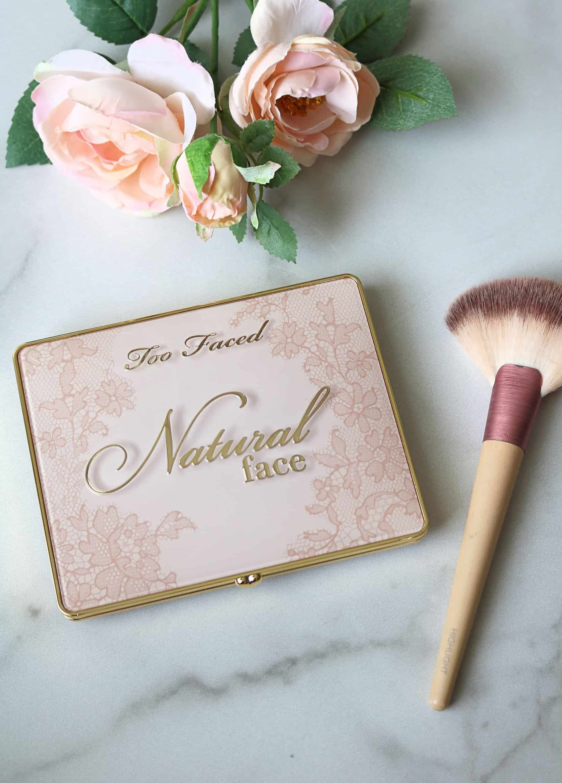 Sharing a Too Faced Natural Face Palette Review with swatches of all 6 shades. This gorgeous natural face palette includes 2 blushes, 2 highlighters, and 2 bronzers in one beautiful, travel-friendly package, perfect for summer! #toofaced #makeupreview #facepalette #summermakeup