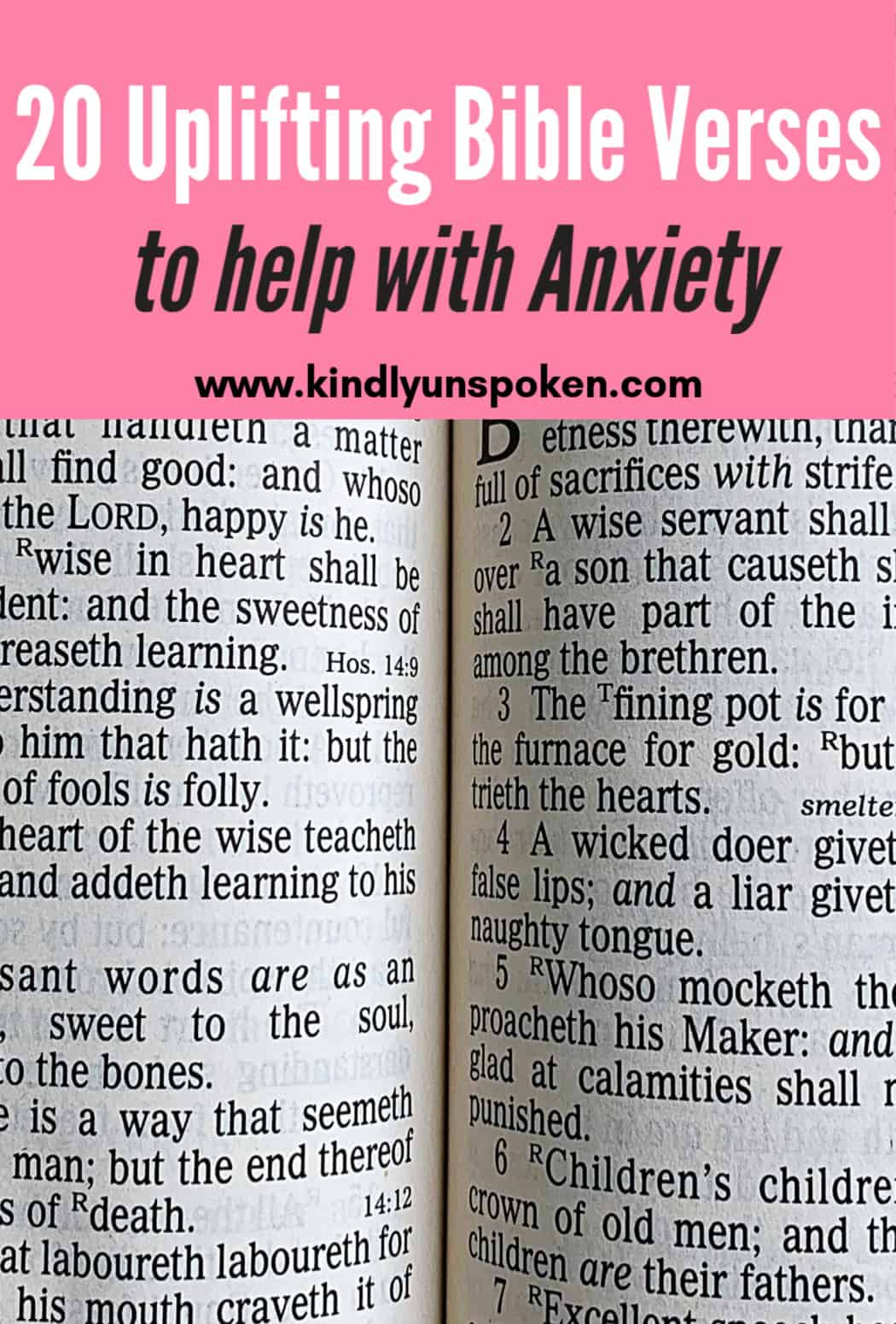 These 20 Encouraging Bible Verses for Anxiety and Stress will help you navigate through anxious seasons and tough times in your life. Read these powerful, uplifting bible verses and quotes any time you are feeling anxious, stressed, or worried. #bibleverses #biblequotes #encouragement