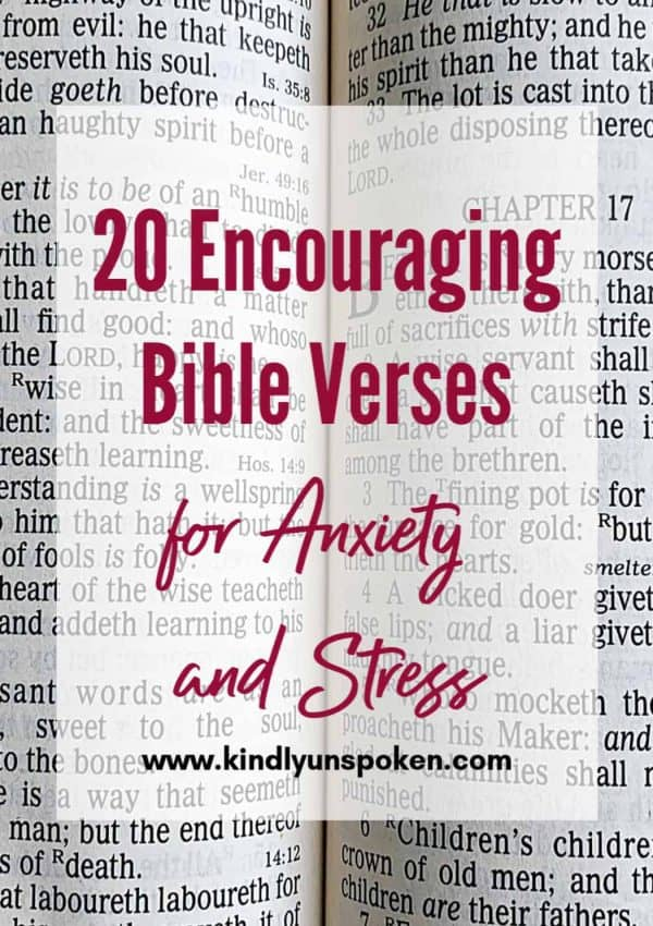 20 Encouraging Bible Verses for Anxiety and Stress