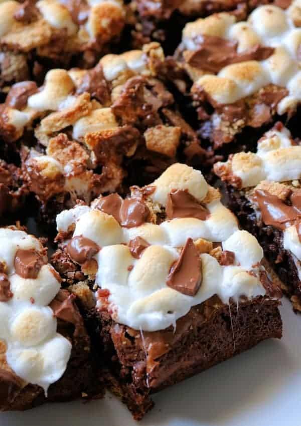 Easy Fudge S'mores Brownies (So Good!)