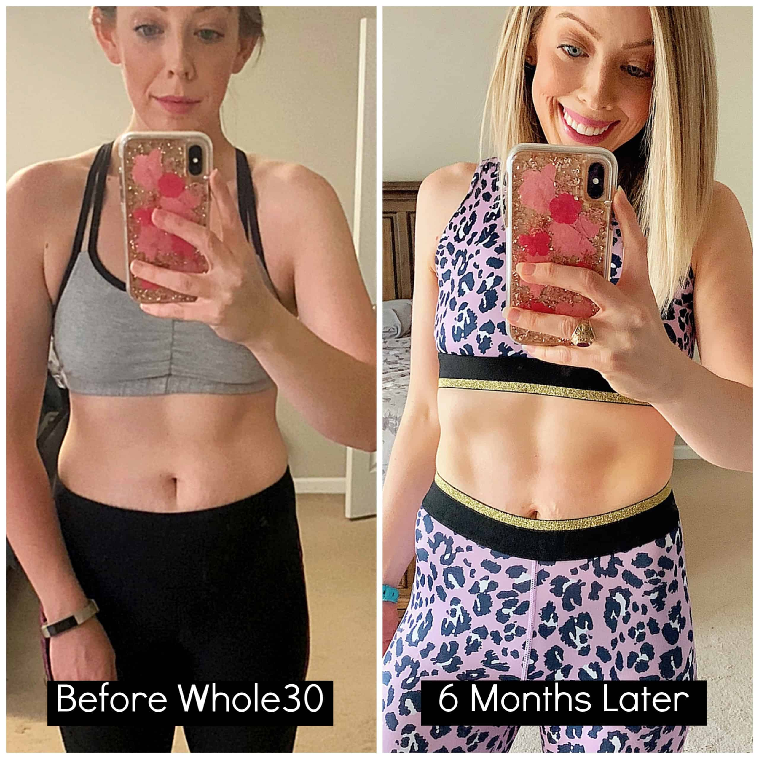 Curious about doing Whole30? I'm sharing my 6 month update with my success story, before/after photo results, my current diet/fitness routine, and my best Whole30 tips and recommendations. #whole30 #health #cleaneating #weightloss #diet