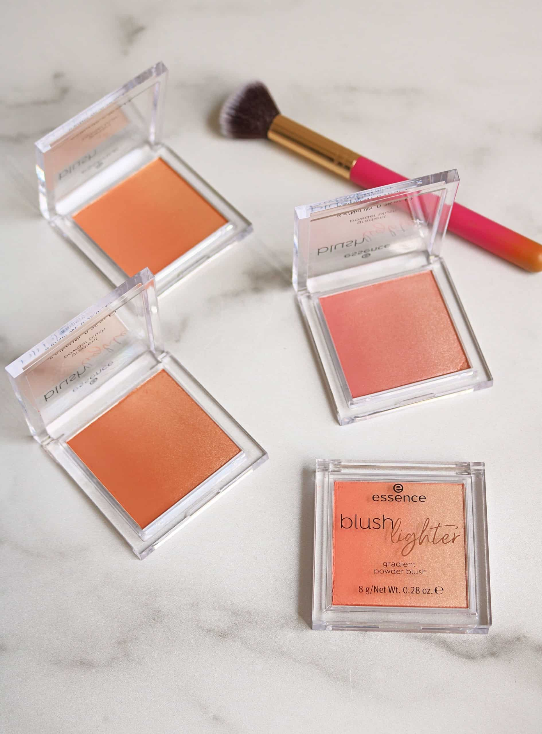 Essence Blush Lighters are a beautiful and affordable drugstore blush and highlighter in one and come in 4 gorgeous shades. Check out my full review and swatches of these pretty blushes that are under $5! #blush #highlighter #drugstoremakeup #essencemakeup