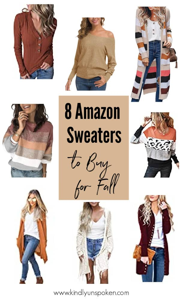 Get ready for sweater weather with the Best Amazon Sweaters for Fall! In this affordable fall amazon fashion haul, I'm sharing the 8 best amazon sweaters and cardigans to buy for Fall and winter, with everything under $30! #amazonfinds #amazon #fallfashion #sweaters #falloutfits #cardigans
