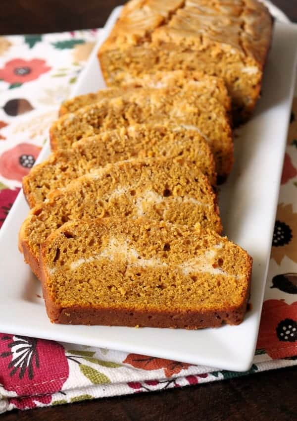 Delicious Swirled Pumpkin Cream Cheese Bread