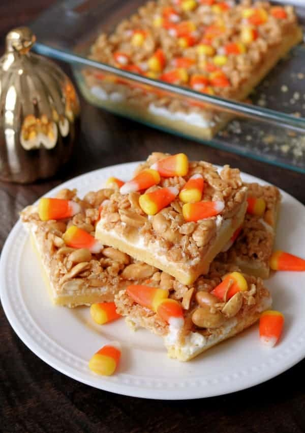 Sweet & Salty Candy Corn Bars