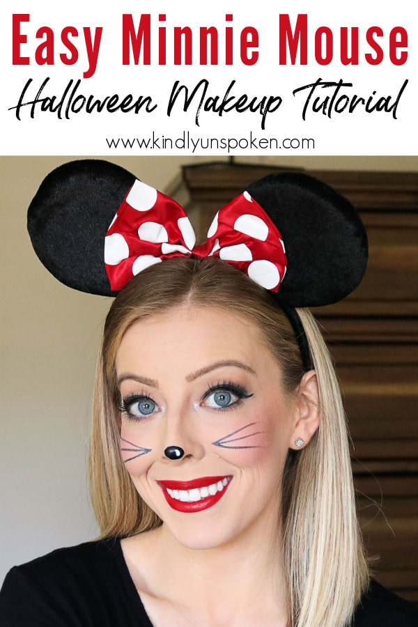 Check out my Easy Minnie Mouse Makeup & DIY Minnie Mouse Halloween Costume for a cute, girly, and simple last-minute Halloween costume for women! This cute Minnie Mouse Makeup look and costume is super simple to create with everyday, drugstore makeup products and products you can find on Amazon. #minniemousecostume #minniemousemakeup #halloweenmakeup #halloweencostume