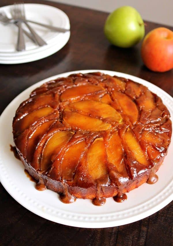 Easy Homemade Caramel Apple Upside Down Cake