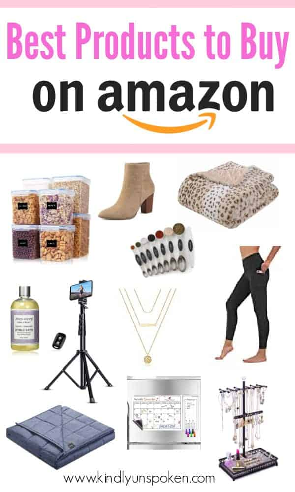 Check out this list of the top 30 Best Amazon Products I've bought and recommend, including cool and useful things to buy on Amazon, best selling must-haves, and my favorite Amazon home products, clothing favorites, beauty items, kitchen items, organizational tools, and more! #amazonfavorites #amazonproducts #amazon #amazonhaul