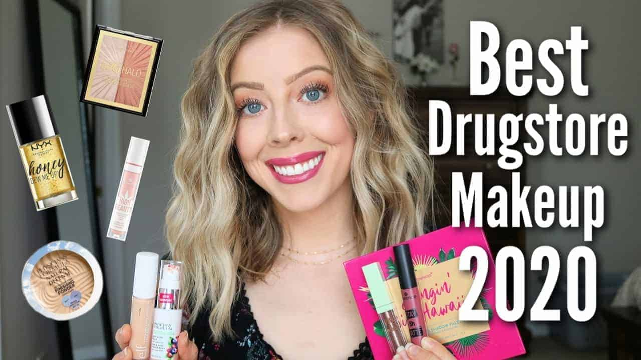 Check out my roundup of The Best Drugstore Makeup of 2020 with the 15 Best Drugstore Makeup Products that are amazing and affordable! I'm also sharing how to achieve an easy drugstore makeup look using all my favorite drugstore makeup products this year! #bestdrugstoremakeup #getreadywithme #makeupfavorites