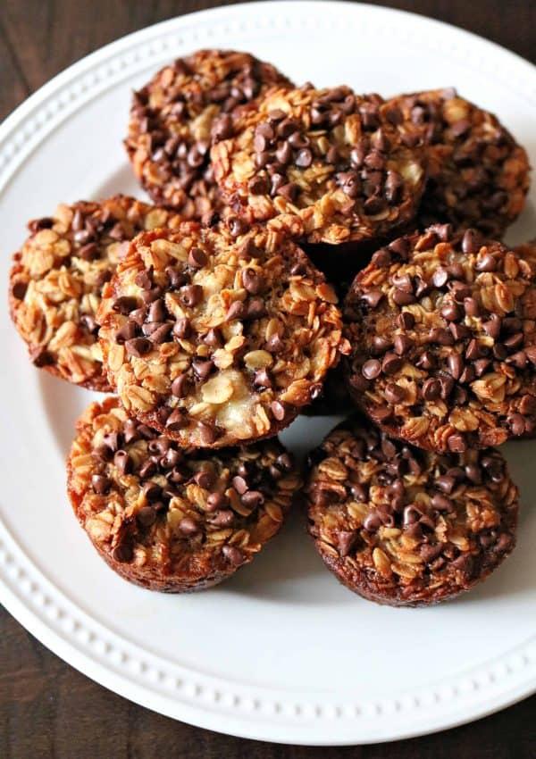 Healthy Chocolate Chip Banana Oatmeal Muffins