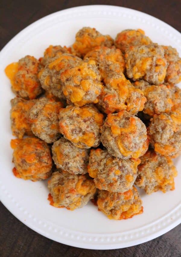 Best Cream Cheese Sausage Balls with Bisquick