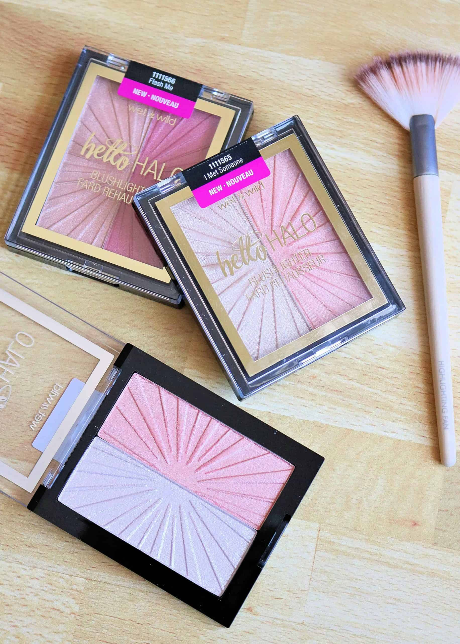 Looking for a beautiful blush and highlighter at the drugstore? Check out my full review of the new Wet n Wild Mega Glo Hello Halo Blushlighter with swatches of all three shades including Flash Me, Highlight Bling, and I Met Someone. #drugstoremakeup #makeupreview #wetnwildbeauty
